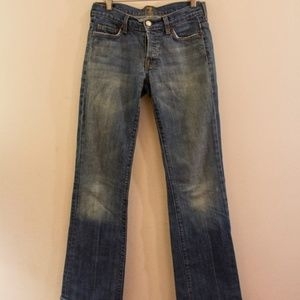 7 for all Mankind Faded Boot Cut Jeans